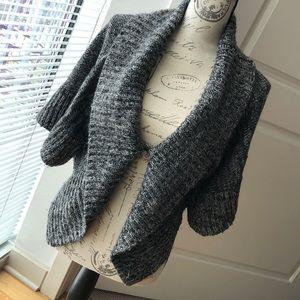 Bebe dark gray kimono styled sweater